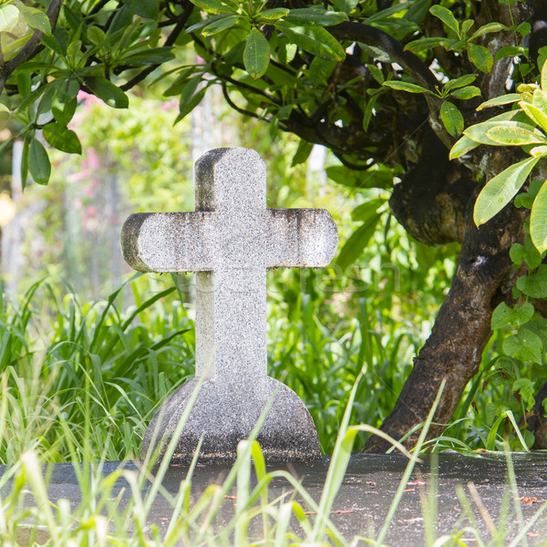 Cross on tombstone Stock photo © michaklootwijk