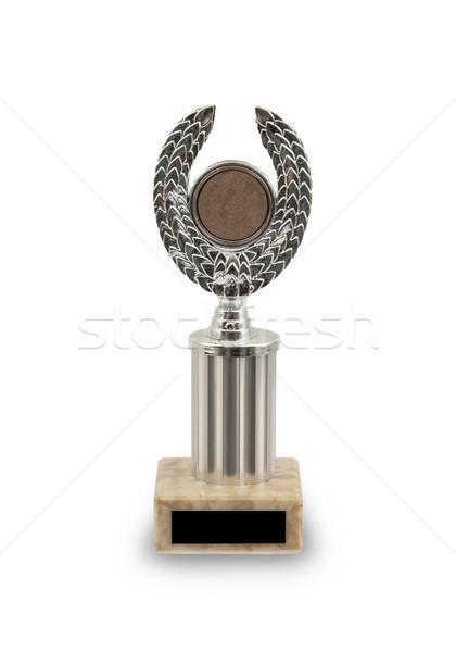 Oude prijs eerste plaats kampioenschap trofee zilver Stockfoto © michaklootwijk