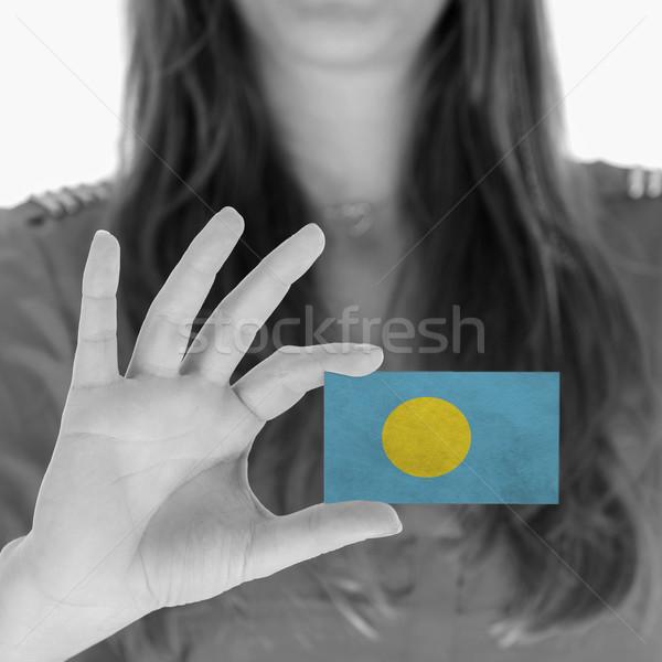 女性 名刺 フラグ パラオ オフィス ストックフォト © michaklootwijk
