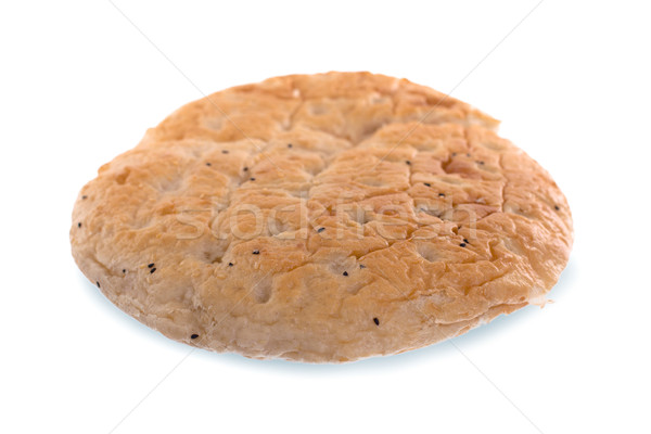 Ramadan pita selektywne focus odizolowany biały chleba Zdjęcia stock © michaklootwijk