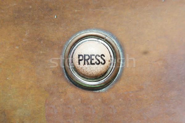 Vieux bouton presse grunge image contrôle Photo stock © michaklootwijk