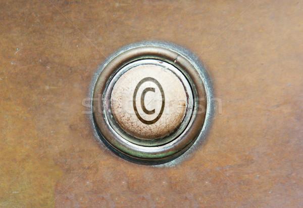 Eski düğme telif hakkı grunge görüntü kırmızı Stok fotoğraf © michaklootwijk