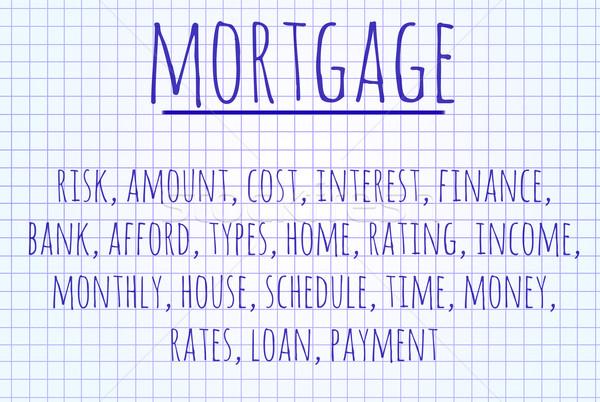 Mortgage word cloud Stock photo © michaklootwijk