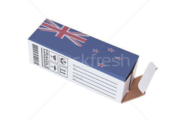 Exportar produto Nova Zelândia papel caixa Foto stock © michaklootwijk