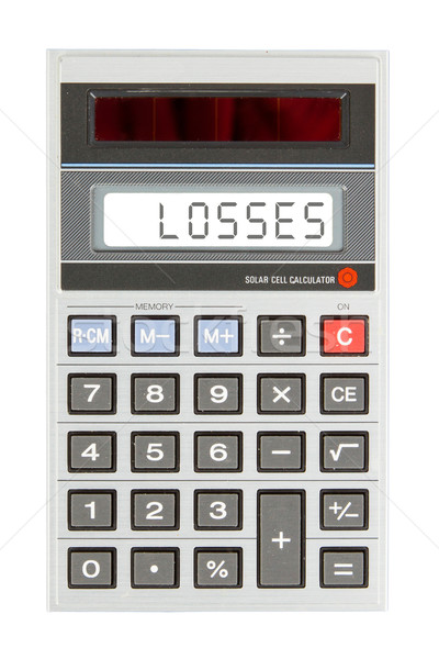 Old calculator - losses Stock photo © michaklootwijk