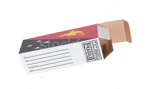 エクスポート 製品 パプアニューギニアの 紙 ボックス ストックフォト © michaklootwijk