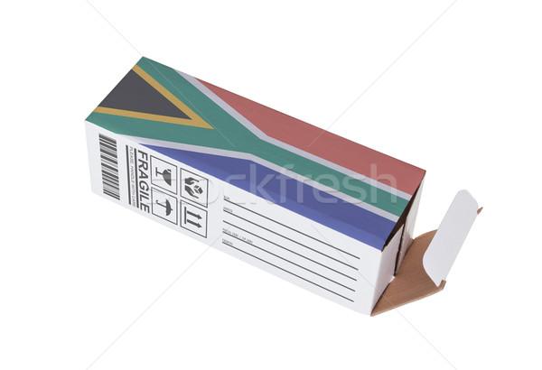 Exporteren product South Africa papier vak Stockfoto © michaklootwijk