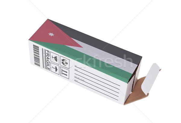 Concept of export - Product of Jordan Stock photo © michaklootwijk