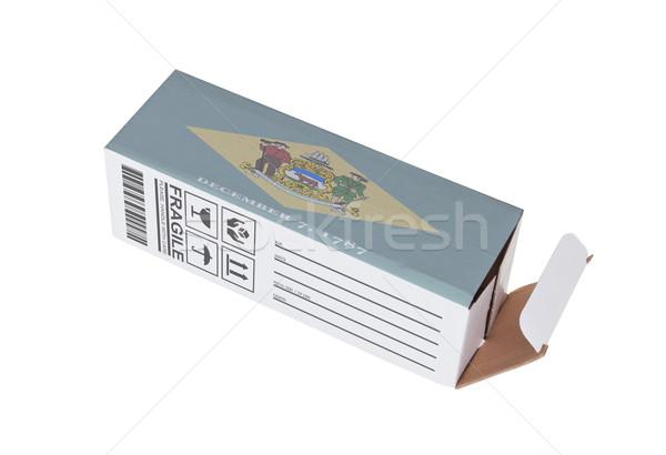 Exportar produto Delaware papel caixa Foto stock © michaklootwijk
