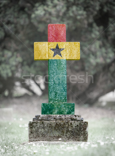 Gravestone in the cemetery - Ghana Stock photo © michaklootwijk