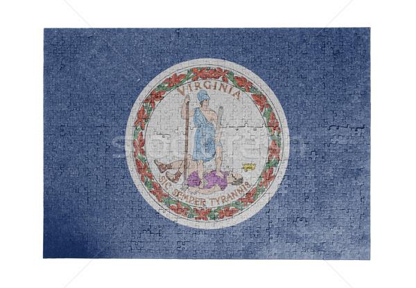 Nagy kirakós játék 1000 darabok Virginia zászló Stock fotó © michaklootwijk