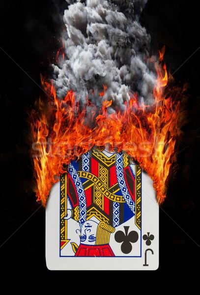 演奏 カード 火災 煙 孤立した 白 ストックフォト © michaklootwijk