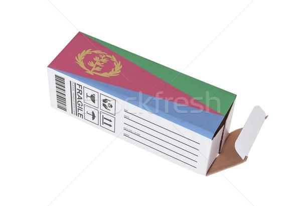 Exportar produto Eritreia papel caixa Foto stock © michaklootwijk