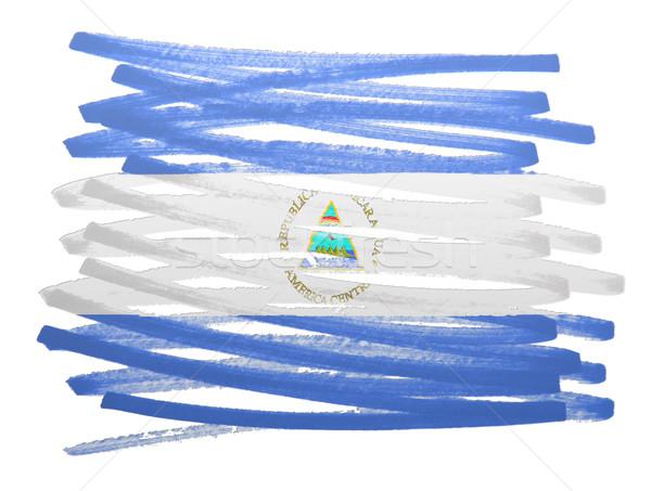 Bandeira ilustração Nicarágua caneta projeto pintar Foto stock © michaklootwijk