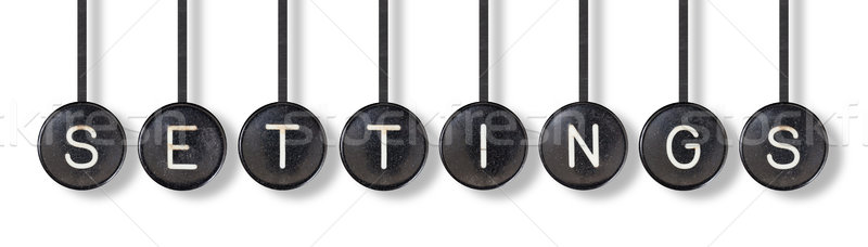 Typewriter buttons, isolated - Settings Stock photo © michaklootwijk