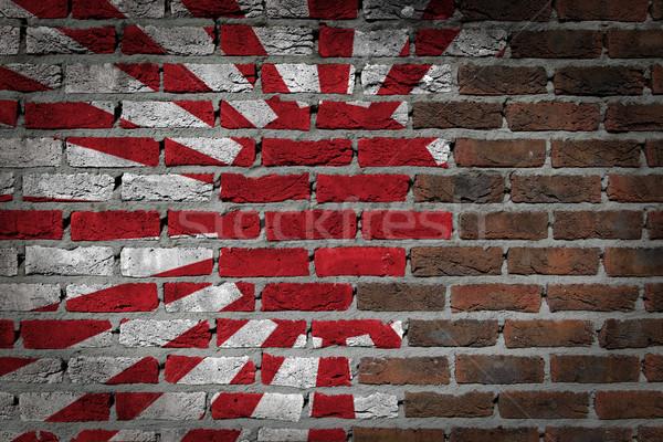 Dark brick wall - Japan Stock photo © michaklootwijk