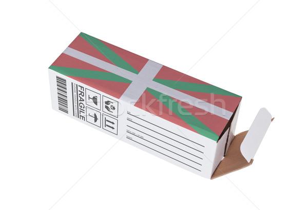 Export termék vidék kinyitott papír doboz Stock fotó © michaklootwijk