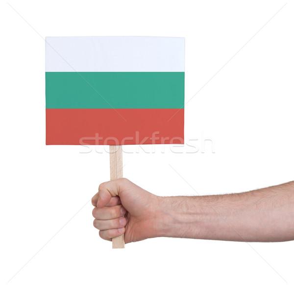 Hand klein kaart vlag Bulgarije Stockfoto © michaklootwijk