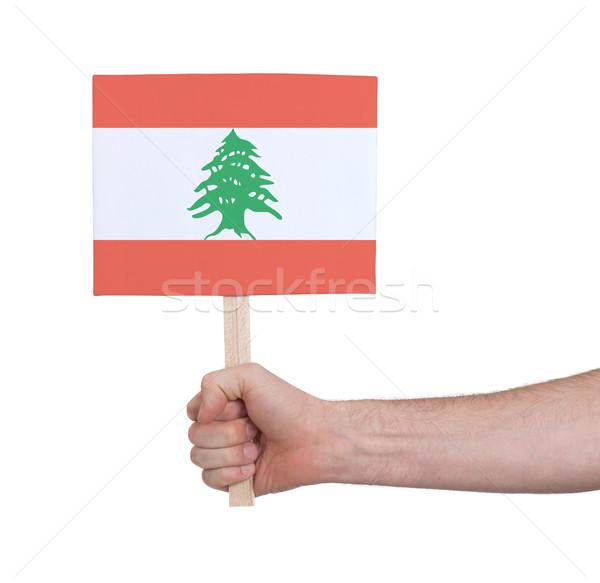 стороны небольшой карт флаг Ливан Сток-фото © michaklootwijk