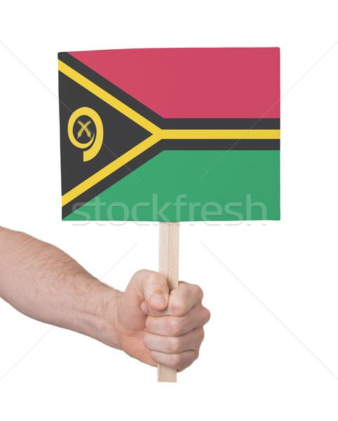 Mão pequeno cartão bandeira Vanuatu Foto stock © michaklootwijk