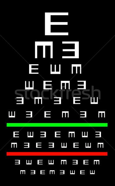 зрение хорошие испытание диаграммы очки Сток-фото © michaklootwijk
