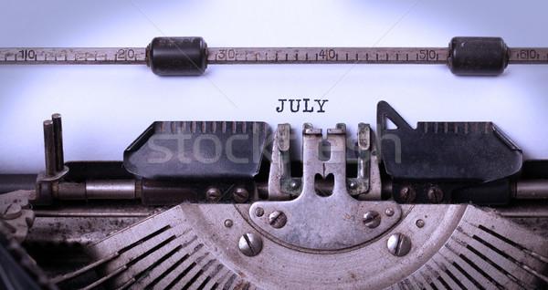 Foto stock: Edad · máquina · de · escribir · vintage · textura · tiempo