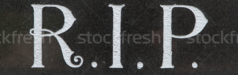 The letter RIP on a grave Stock photo © michaklootwijk