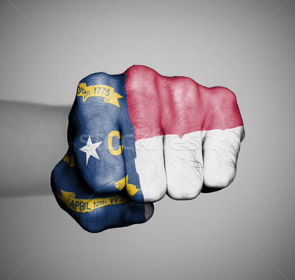 United states, fist with the flag of North Carolina Stock photo © michaklootwijk