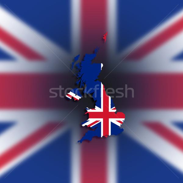 Pokaż Zjednoczone Królestwo wielka brytania Irlandia banderą Zdjęcia stock © michaklootwijk