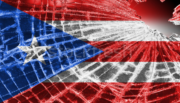 Broken ice or glass with a flag pattern, Puerto Rico Stock photo © michaklootwijk