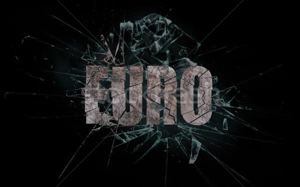 Przemocy crash euro stłuczone szkło słowo ceny Zdjęcia stock © michaklootwijk