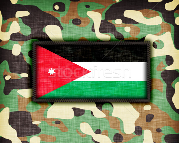 Foto stock: Uniforme · Jordânia · bandeira · textura · abstrato