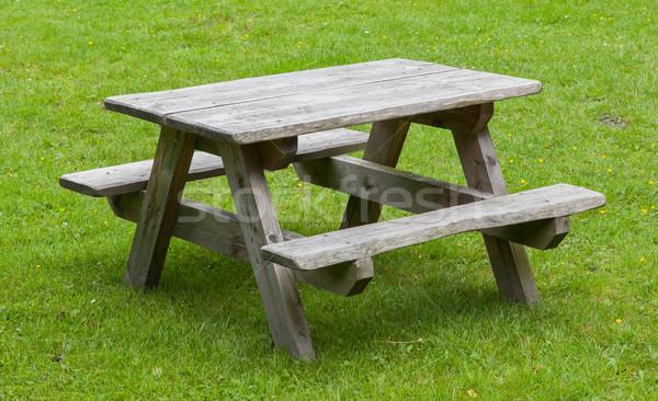Small wooden picknickplace Stock photo © michaklootwijk