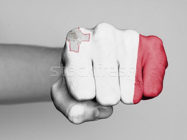 Puno hombre bandera Malta mano pelo Foto stock © michaklootwijk