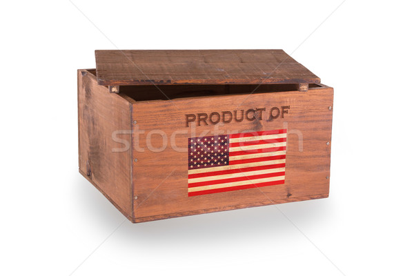 Stock fotó: Fából · készült · láda · izolált · fehér · termék · Egyesült · Államok