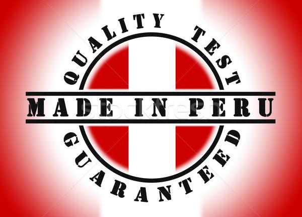 Stockfoto: Kwaliteit · test · gegarandeerd · stempel · vlag · binnenkant