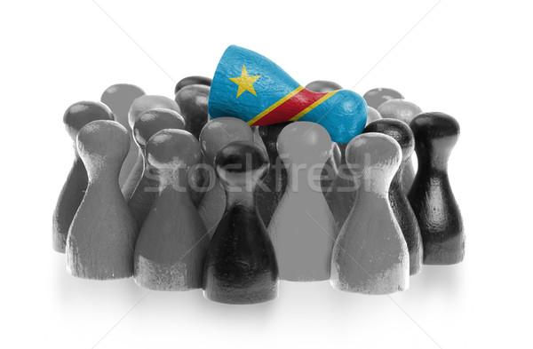 Uno peón superior bandera Congo Foto stock © michaklootwijk
