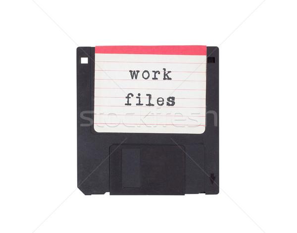 Disk destek yalıtılmış beyaz çalışmak Stok fotoğraf © michaklootwijk