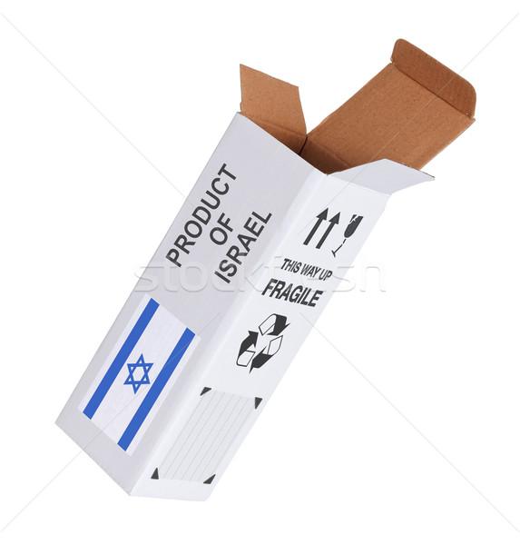 Exporteren product Israël papier vak Stockfoto © michaklootwijk