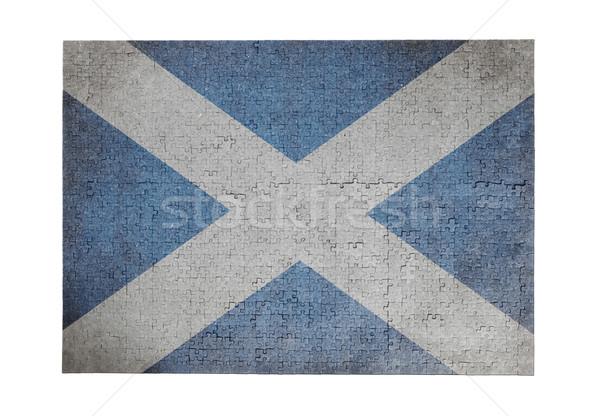 Groot 1000 stukken Schotland vlag Stockfoto © michaklootwijk