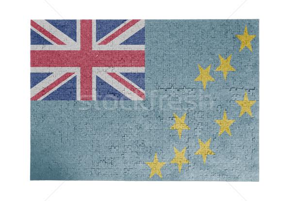Grande 1000 peças Tuvalu bandeira Foto stock © michaklootwijk