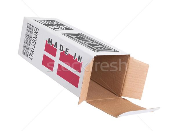 Exportar producto Dinamarca papel cuadro Foto stock © michaklootwijk
