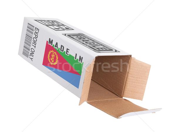 エクスポート 製品 エリトリア 紙 ボックス ストックフォト © michaklootwijk