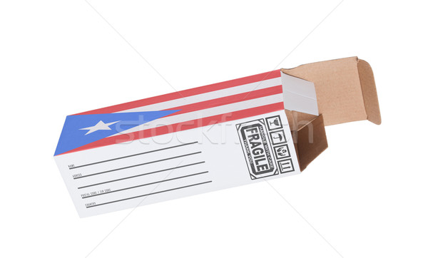 Exporteren product Puerto Rico papier vak Stockfoto © michaklootwijk