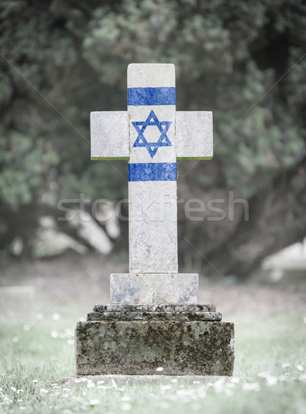 Lápida sepulcral cementerio Israel edad capeado hierba Foto stock © michaklootwijk