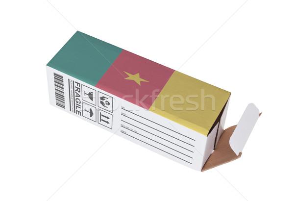 Export termék Kamerun kinyitott papír doboz Stock fotó © michaklootwijk