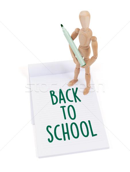 Manequim escrita de volta à escola recados papel Foto stock © michaklootwijk