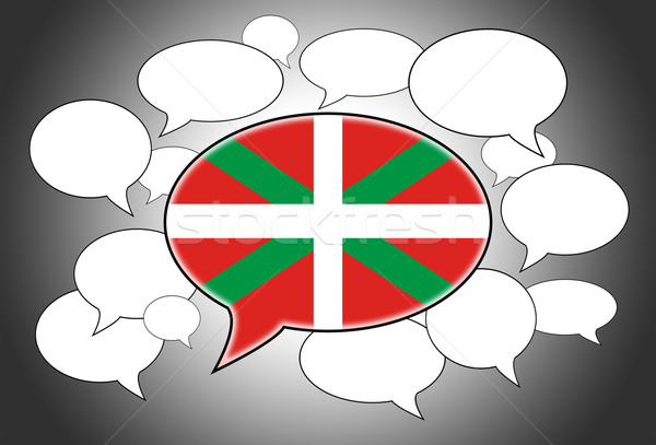 Foto stock: Linguagem · fundo · espaço · bandeira · falar
