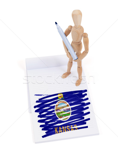Wooden mannequin made a drawing - Kansas Stock photo © michaklootwijk