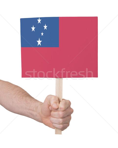 Hand klein kaart vlag Samoa Stockfoto © michaklootwijk